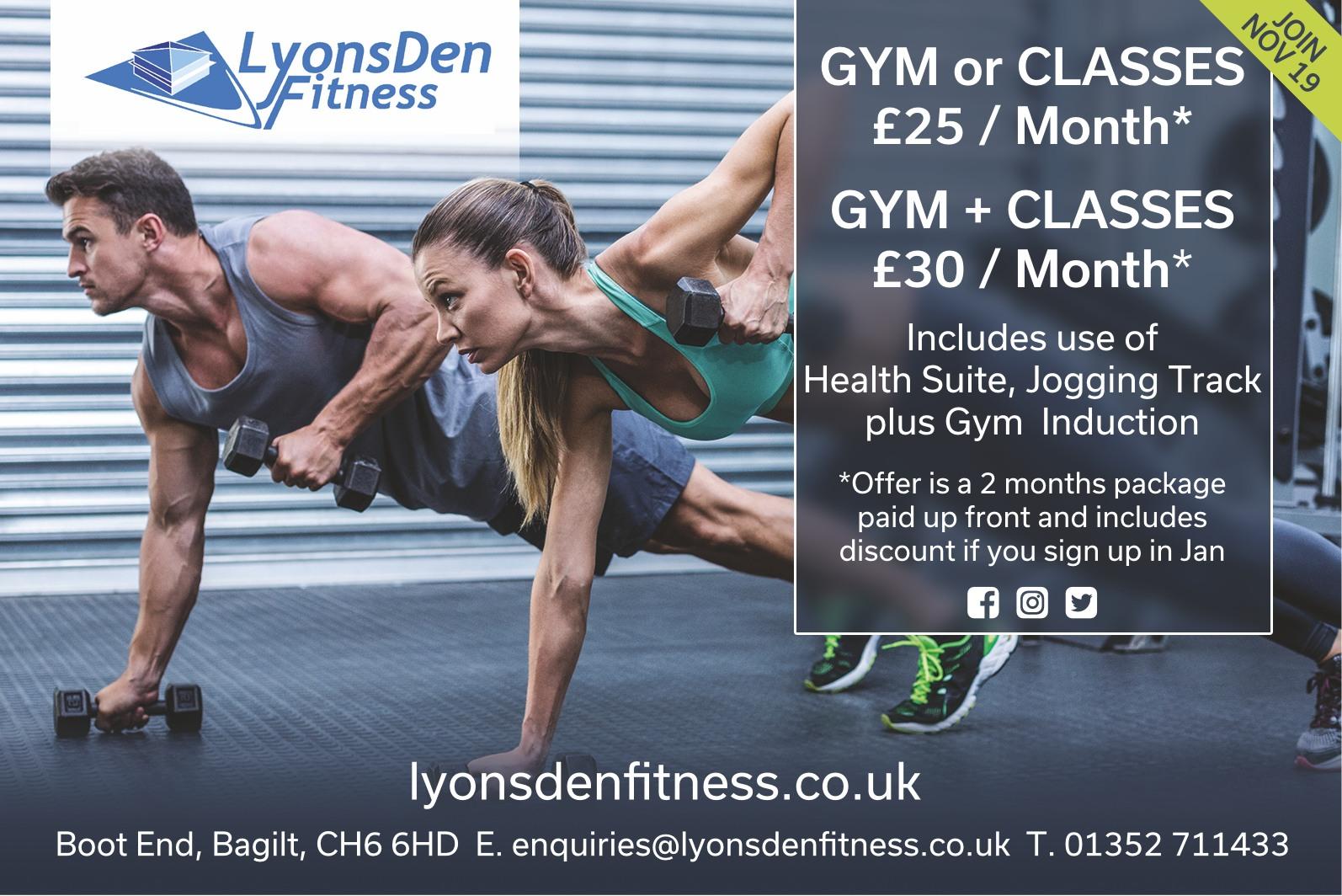 LyonsDen Fitness November 2019 offer