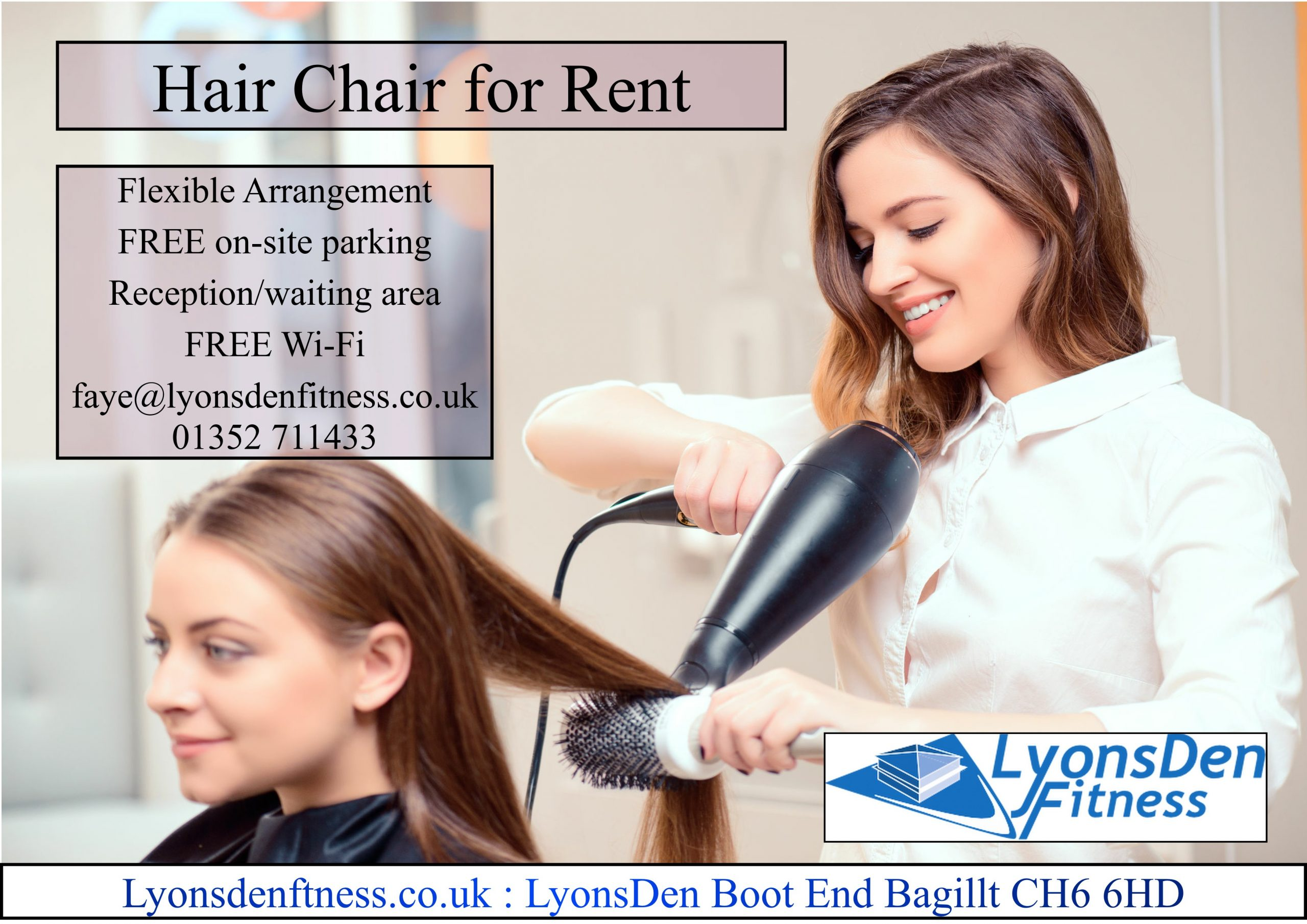 LyonsDen Hair Chair retal 2019